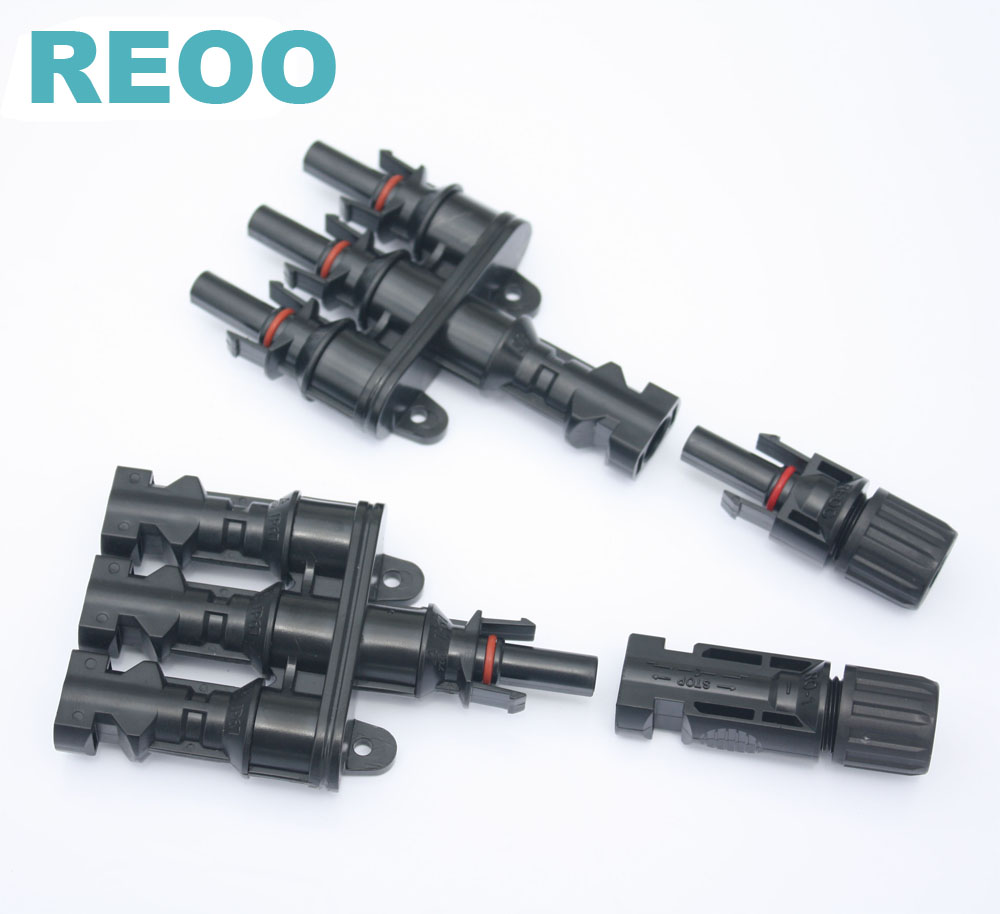 REOO 2 way 2 in 1 High quality MC4 T Solar Connectors