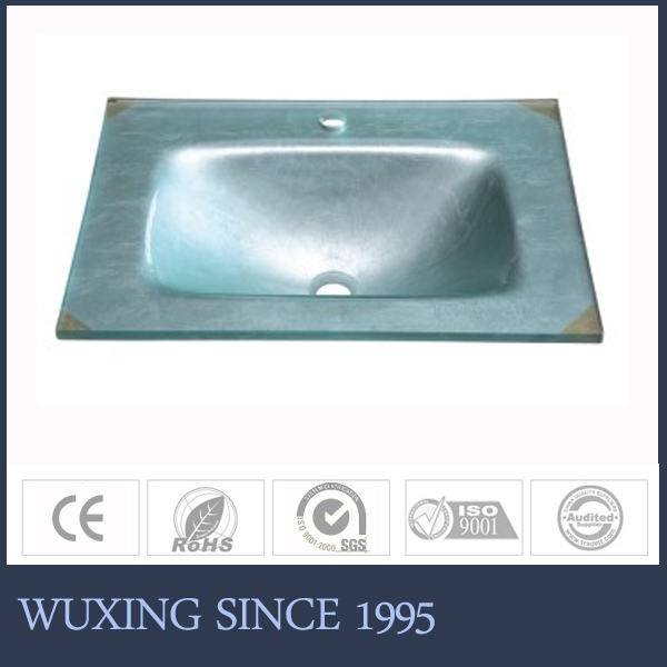 Hangzhou tops silver glass wash ,Handcraft glass basin kitchen sink