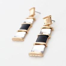 Lady Fashion Earring Jewelry Gold Plated Metal Tanishq Earrings Designs