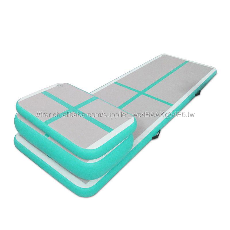 fait la main facile transporter matelas gonflable tapis de gymnastique air piste - Tapis De Gym