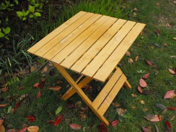 Small Garden Wooden Table Folding Picnic Side Table