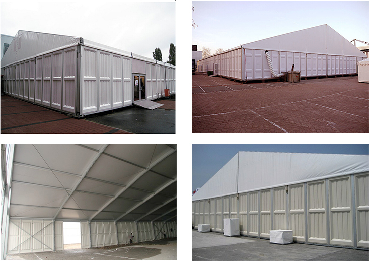 High Strength Industrial Insulated Warehouse Tent Large Aluminum Frame Storage Tent