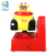 Coin operated indoor fiberglass 3D video swing car electronic kiddie ride game machine
