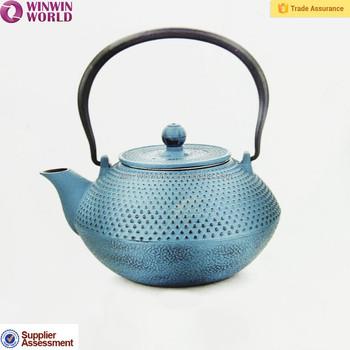 Hot Sale Cast Iron Teapot For Dubai 1200ml Metal Tea Pots With Laser