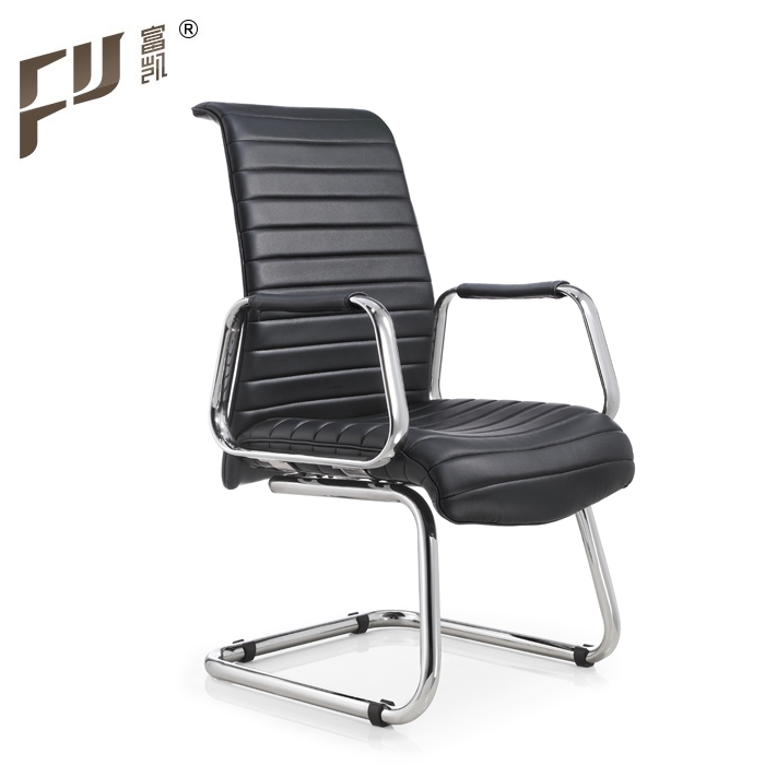 Modern Design Luxury Soft Genuine Leather Visitor Office Chair