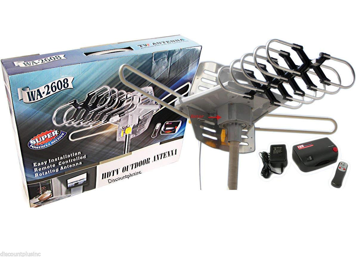 WA-2608 360 Degree Rotation Ultra Remote Controlled HD TV Antenna with Control Box