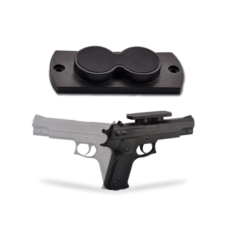 Infuns Gun Magnet 25 lb Rated, Gun Holsters For Cars, Truck, Bedside, Steering Wheel Vehicle Gun Mount Pistol