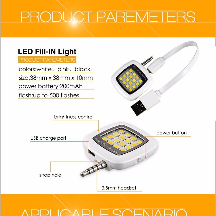 Flash Led Light Hot Selling Camera Mobile Phone Mini Portable Selfie Flash  Led Light - Buy Led Light,Selfie Flash Light,Flash Led Light Product on