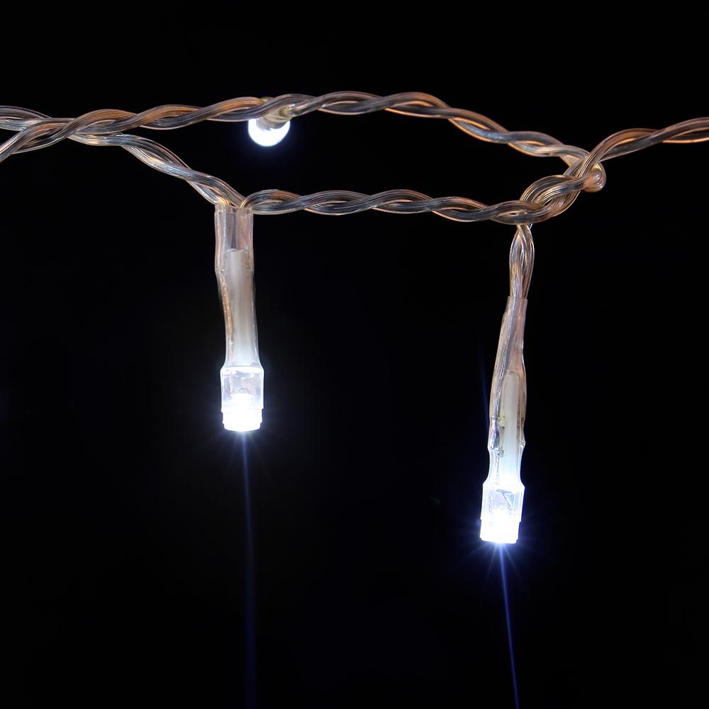Christmas rgb led falling snow icicle string light