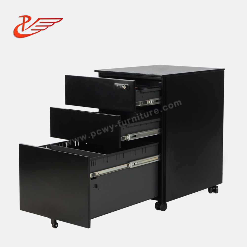 Flat surface and Side open handle filing Mechanical locks file cabinet lock on wheels with lockable key
