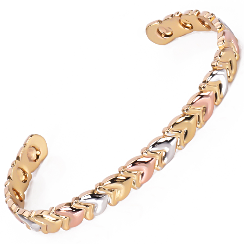 08eb19af3630c Enamel Wire Screw Love Expandable Stainless Steel Woman Bangle