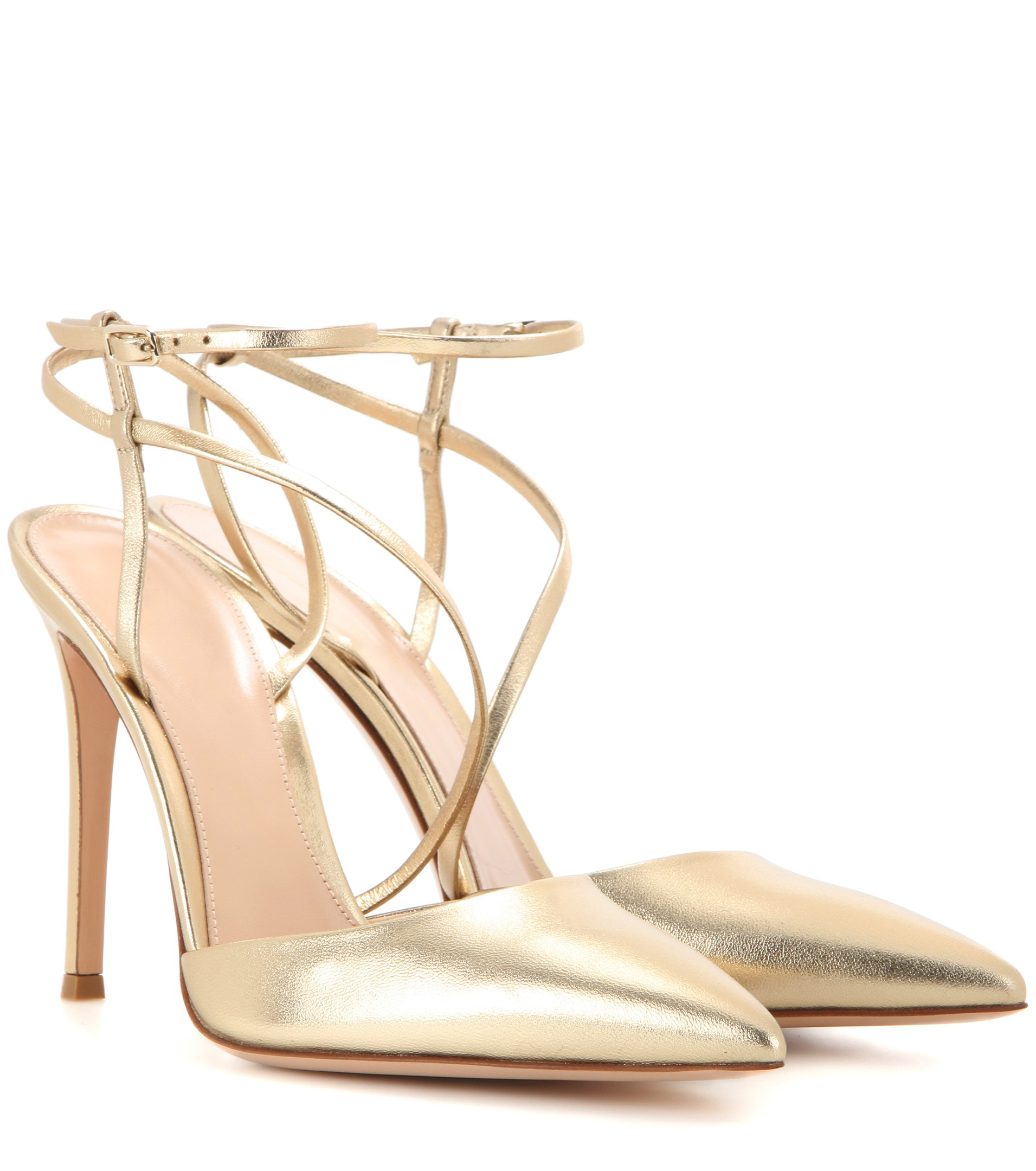 2869b59590df Metallic gold stiletto girls high heels fashion high quality slingback  pointed toe ladies shoes ...