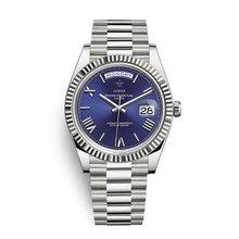 Мужские часы Топ бренд класса люкс 18 К золотые часы 40 мм Высокое качество нержавеющая сталь календарь genava мужские наручные часы rolexable часы(Китай)