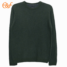 Mens Knit Round Neck Pullover Plain Sweater