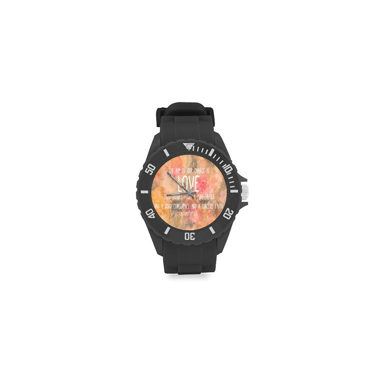Special Design Christian Bible Verse, Renaissance Collection, Christian Religious Gift Custom Kids' Round Rubber Sport Watch