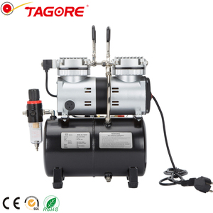 Portable silent oil free air compressor for spray painting 1/4 HP auto stop 4L tank mini pump