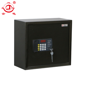 electronic safe reset code password money stack on wall safe box