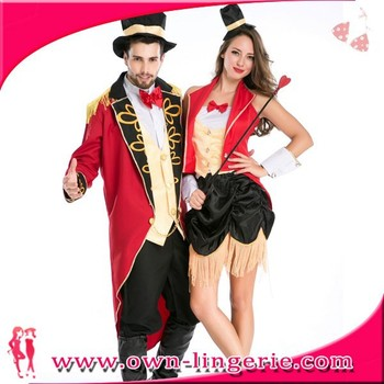carnival couple clothing in valentines day high quality couple costume dress women open photo valentines set