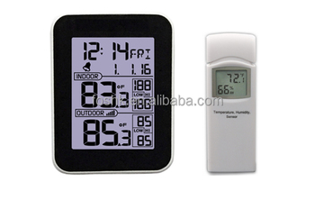 wireless digital thermometer with outdoor sensor and wifi. Black Bedroom Furniture Sets. Home Design Ideas