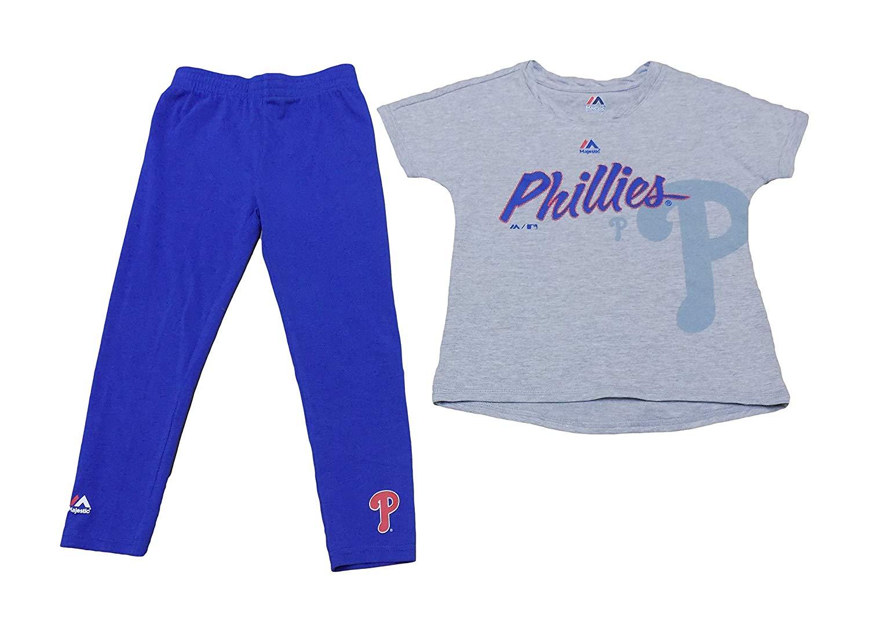 4221b953cd93c Get Quotations · Philadelphia Phillies Kids Grey Blue T-Shirt & Pants Set