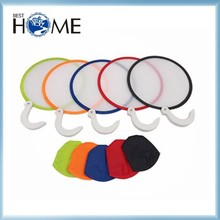 190T Custom Printed Promotional Round Nylon Folding Fan with Pouch