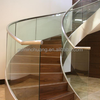 Customized Villa Interior Flooring Portable Curve Stairs Staircase