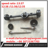 "China gold supplier gasoline three wheel motorcycle spare parts Chang""an optional ratio rear axle"