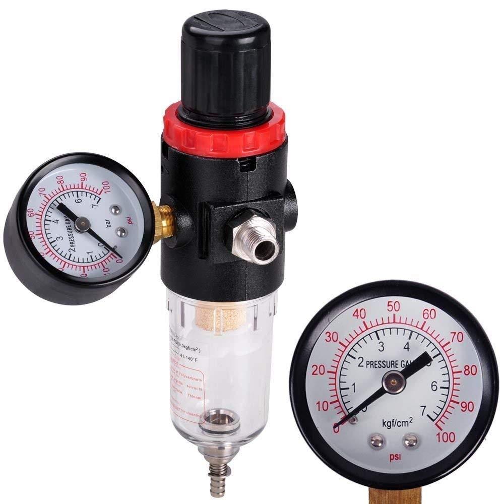 [WALLER PAA] Water Trap Filter Airbrush Compressor Pressure Regulator Spray Moisture Gauge