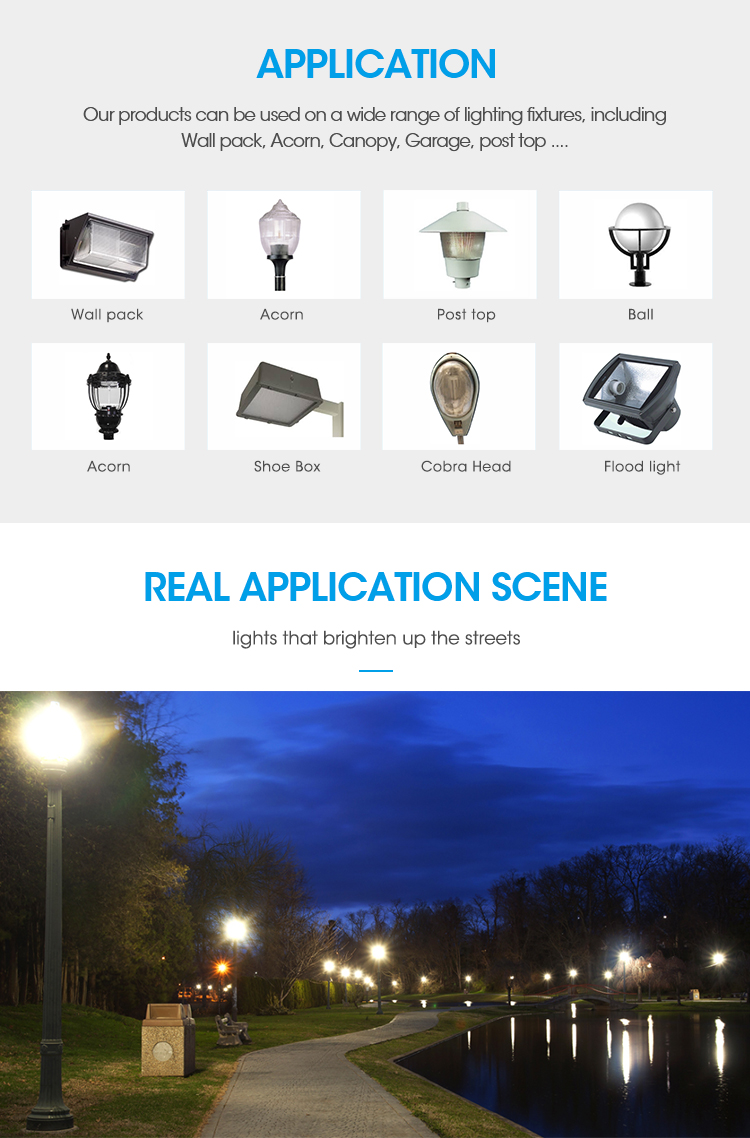 E40 54W Led corn light retrofit kits replacement HID 200w dark sky friendly led lawn lights products use outdoor lighting