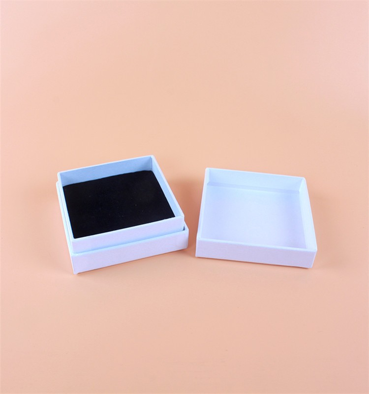 Custom logo printed jewelry box with white lid