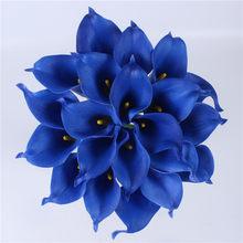 21 шт./лот натуральный настоящий сенсорный букет цветов Калла лилия свадебное украшение поддельный цветок для Домашняя вечеринка, праздник ...(Китай)