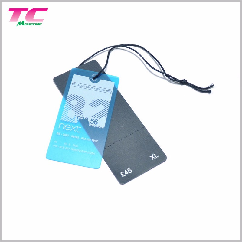 Printed Black Paper Hangtag Price Tag Custom Jeans Hang Tags For Garment