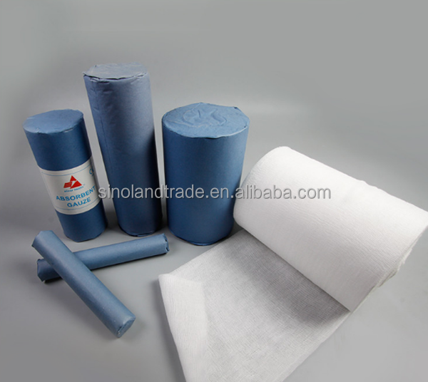 High quality 100% Cotton Absorbent medical cotton gauze roll