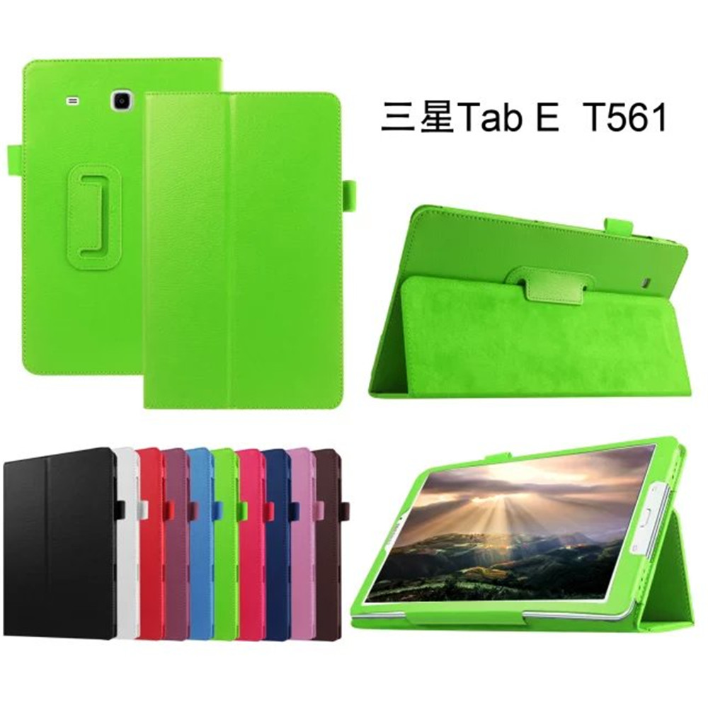 Newest PU Fashionable Perfect Fitted Anti-knock Colorful Tablet Case for Samsung Galaxy Tab E 9.6 T560