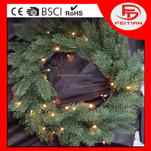 Christmas light with pine needle ring for holiday with led battery light CE&ROHS LED light garland