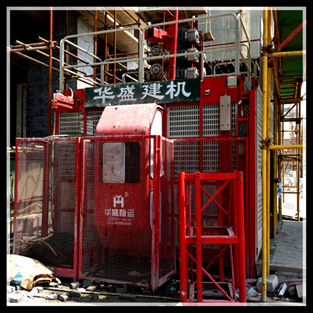 Self developed temporary elevator With Double cages passengers and materials building hoist