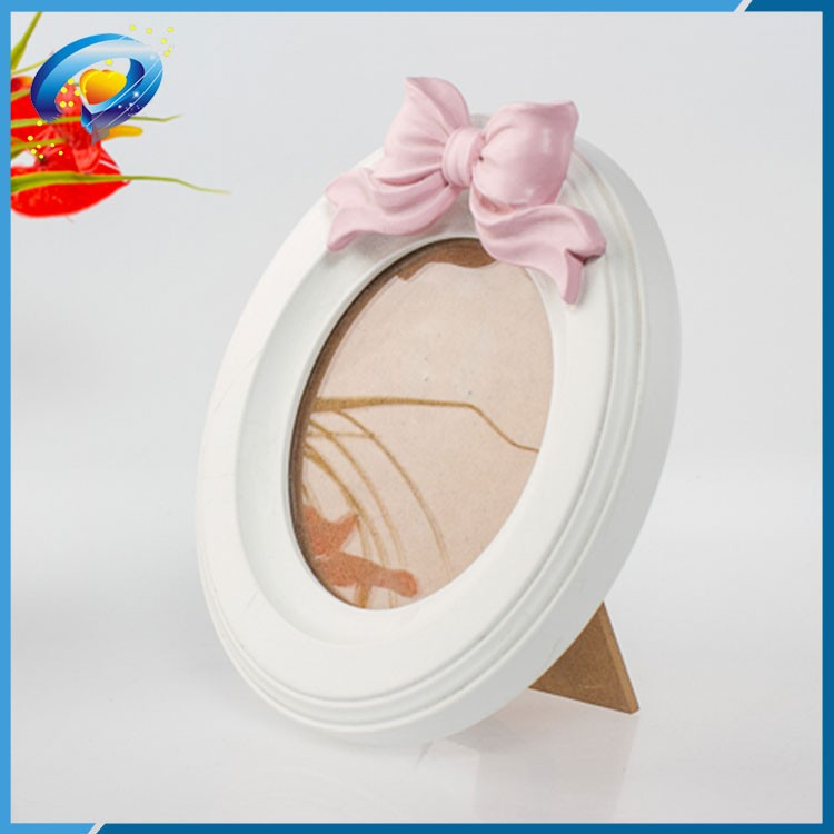 Ronda marcos de madera para parejas con bowknot rosa-Marco ...