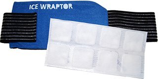 Ice Wraptor Ice Wrap / Cold Wrap with Thermafreeze Reusable Ice Pack / Cold Pack Insert (5 x 10 inch) - Wraps around any body part from small joints to knees, backs, and shoulders