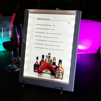 personalized hotel Restaurant ABS acrylic led backlit menu electronic light up menu display board