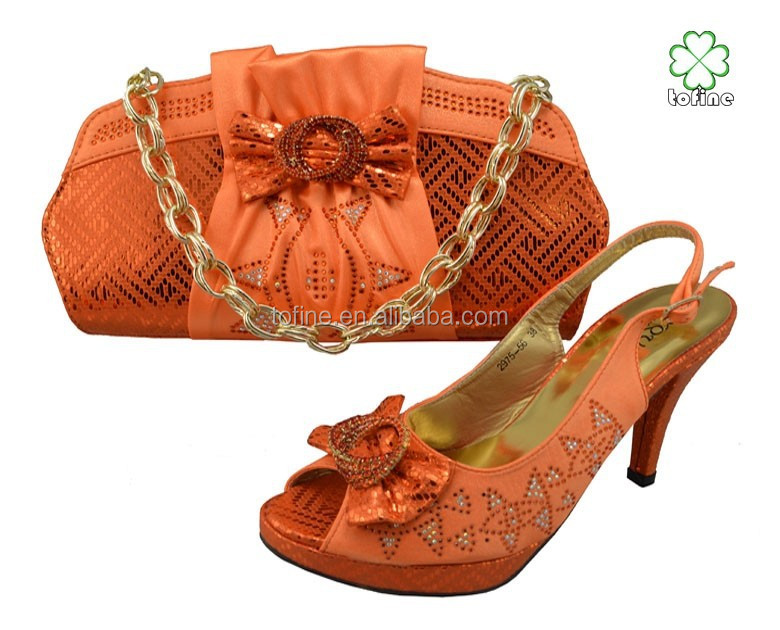 matching and italian wholesale shoes 2015 high quality bags orange qpPaSw