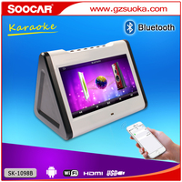 portable digital dual screen MP3 MP4 player bluetooth hdd karaoke player with USB SD card port