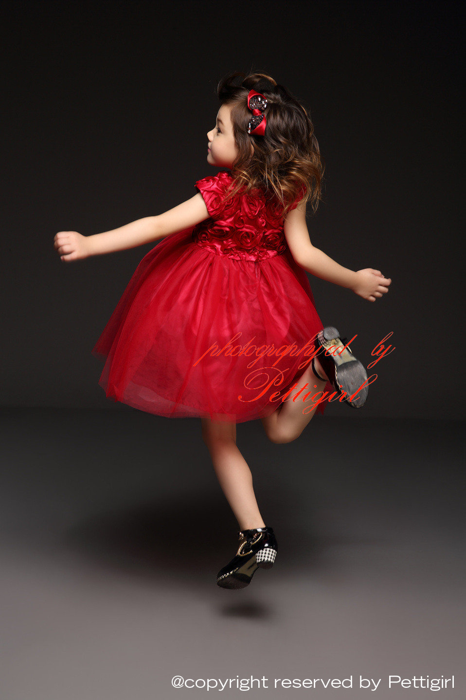 58e0f2a01c14 2016 Latest Red Girl Princess Dresses With Rose Short Sleeve Tulle ...