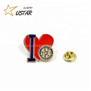 High quality custom rotary lapel pin, custom rhinestone brass lapel pins no minimum