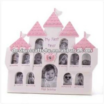 House Shaped Cute Baby 12 Month Photo Frame Buy Baby 12 Month
