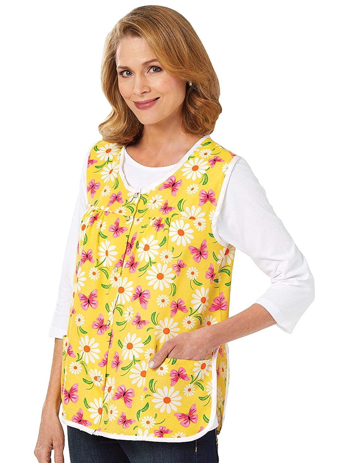 Carol Wright Gifts Cobbler Apron, Color Daisy, Size Extra Large (1X), Daisy, Size Extra Large (1X)
