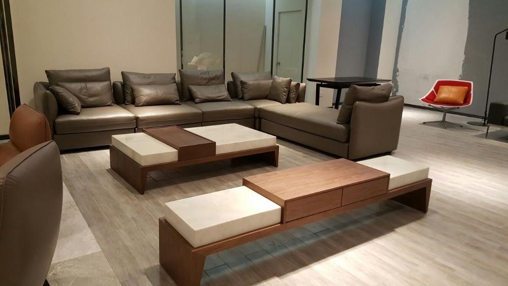 nieuwe ontwerp italià moderne houten base natuurlijke marmeren