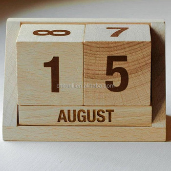 Wholesale Desktop Wood Perpetual Calendar Buy Wooden Desktop