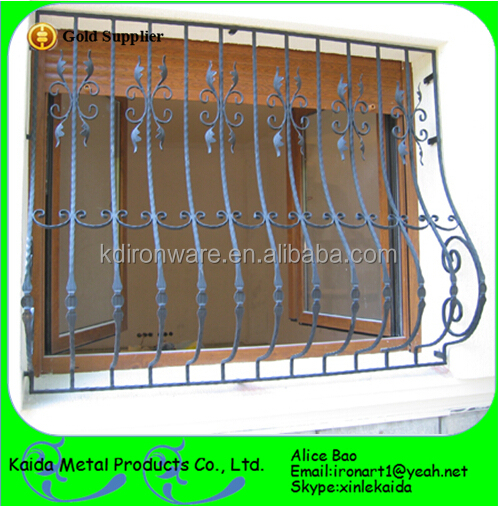 Beutiful simple ornamental iron window grills design buy for Window design pakistan