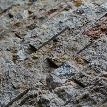 Pierre Naturelle Scabos Travertin X Brique Motif Face Éclatée - Carrelage b stone