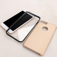 360 Degree Full Phone Cover Plastic Hard Case Shockproof Case with Screen Protector for iPhone 7 7 Plus